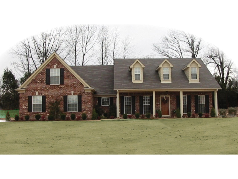 Traditional Country Style Home With Dormers And Covered Front Porch
