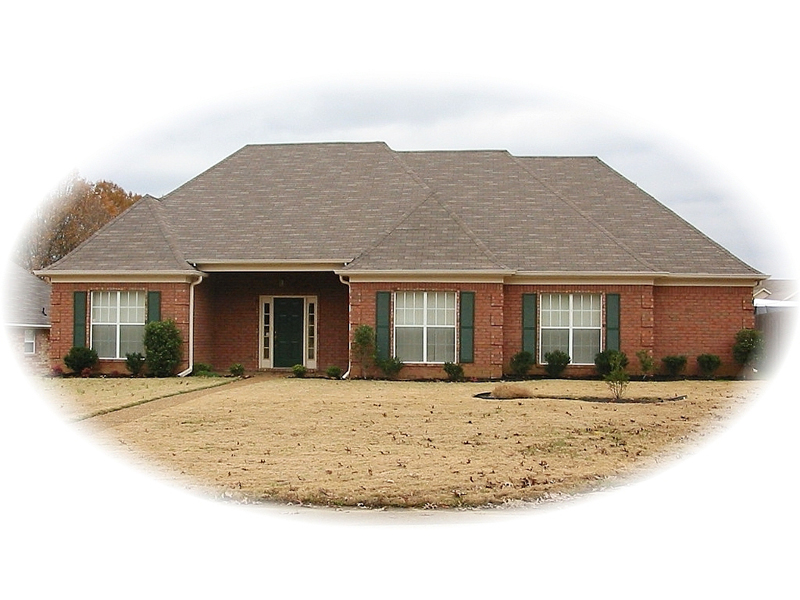 All-Brick Ranch Design Promotes Family Living