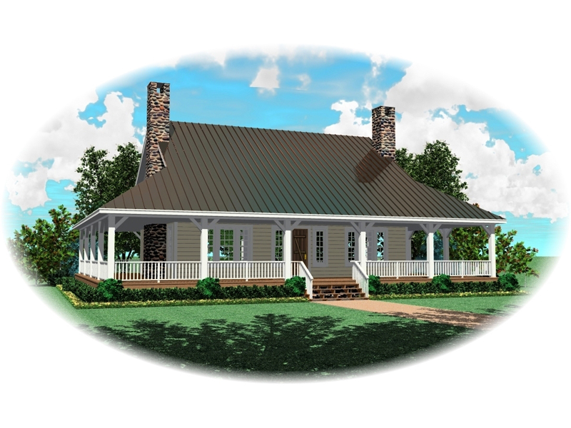 Southern Farmhouse Style Has Deep Wrap-Around Porch