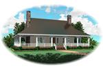 Southern Farmhouse Style Has Deep Wrap-Around Porch
