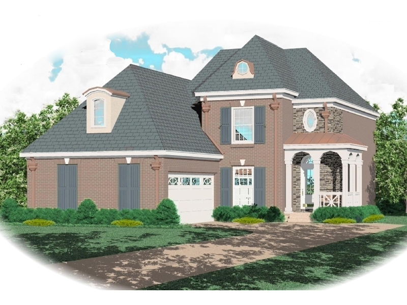 Country House Plan Front of Home - 087D-0332 | House Plans and More