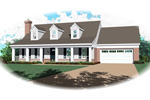 Trio Of Dormers Flank The Porch Of This Cape Cod