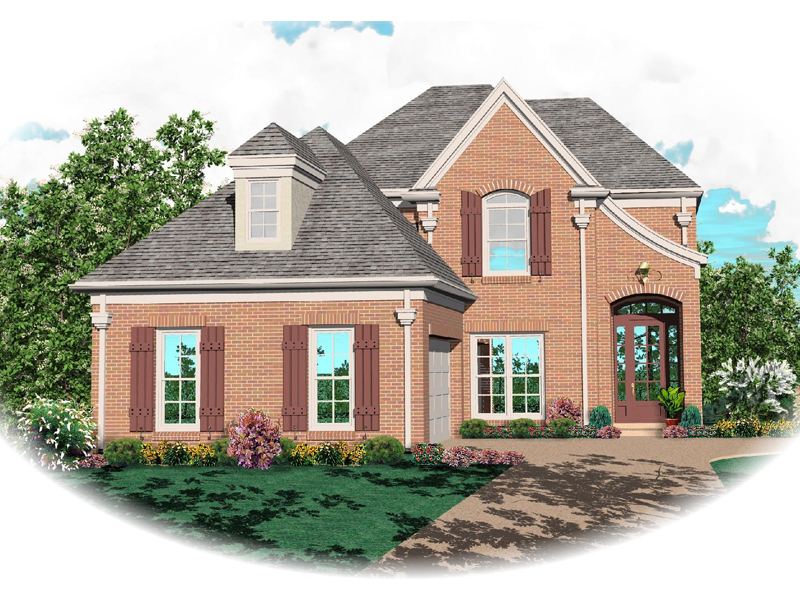 European House Plan Front of Home - 087D-0359 | House Plans and More
