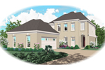 Adobe and Southwestern Plan Front of Home - 087D-0363 | House Plans and More