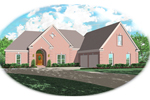 Ranch House Plan Front of Home - 087D-0379 | House Plans and More