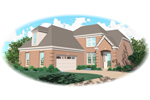 European House Plan Front of Home - 087D-0382 | House Plans and More
