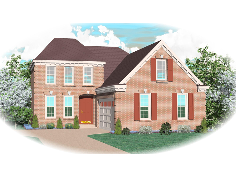 Georgian House Plan Front of Home - 087D-0383 | House Plans and More