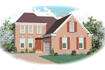Greek Revival Home Plan Front of Home - 087D-0383 | House Plans and More