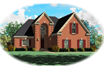 European House Plan Front of Home - 087D-0386 | House Plans and More