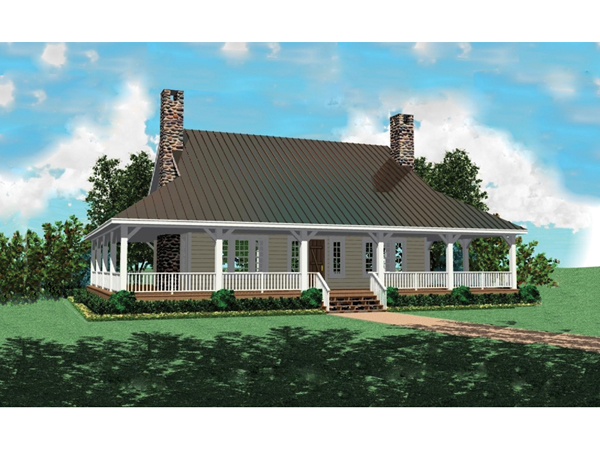 Chambersburg mill acadian home plan 087d 0389 house for Acadian style house plans with wrap around porch