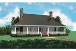 Country Style Home With Deep Wrap-Around Porch