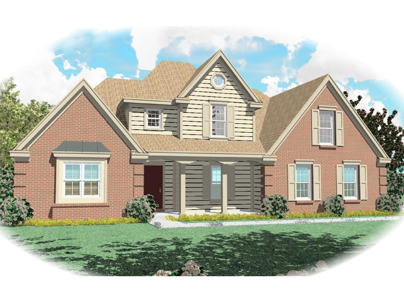 Country House Plan Front of Home - 087D-0391 | House Plans and More