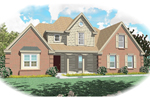 Colonial House Plan Front of Home - 087D-0391 | House Plans and More