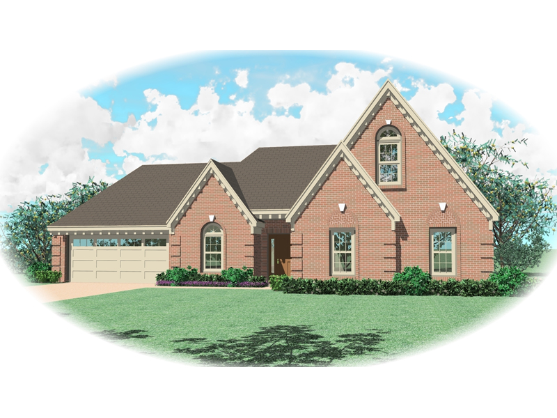 European House Plan Front of Home - 087D-0393 | House Plans and More