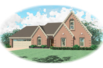 Country House Plan Front of Home - 087D-0393 | House Plans and More