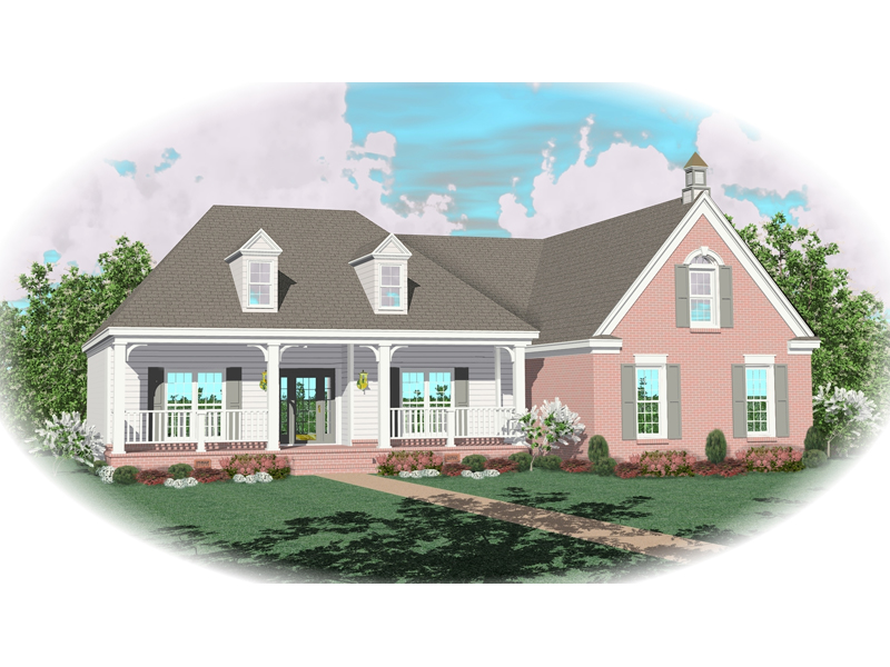Farmhouse Plan Front of Home - 087D-0396 | House Plans and More
