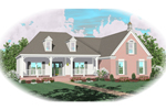 Cape Cod and New England Plan Front of Home - 087D-0396 | House Plans and More