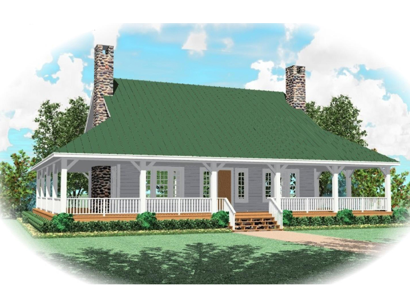 Farmhouse Plan Front of Home - 087D-0398 | House Plans and More