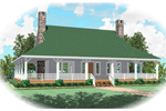 Country House Plan Front of Home - 087D-0398 | House Plans and More