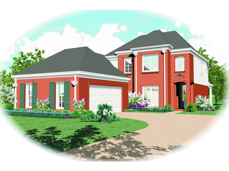 Georgian House Plan Front of Home - 087D-0407 | House Plans and More