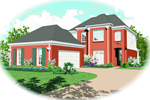 Colonial Floor Plan Front of Home - 087D-0407 | House Plans and More