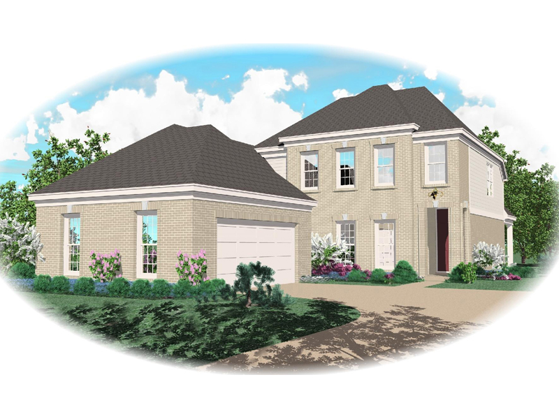 Colonial House Plan Front of Home - 087D-0408 | House Plans and More