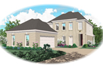 Adobe and Southwestern Plan Front of Home - 087D-0408 | House Plans and More