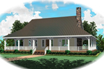 Farmhouse Home Plan Front of Home - 087D-0417 | House Plans and More