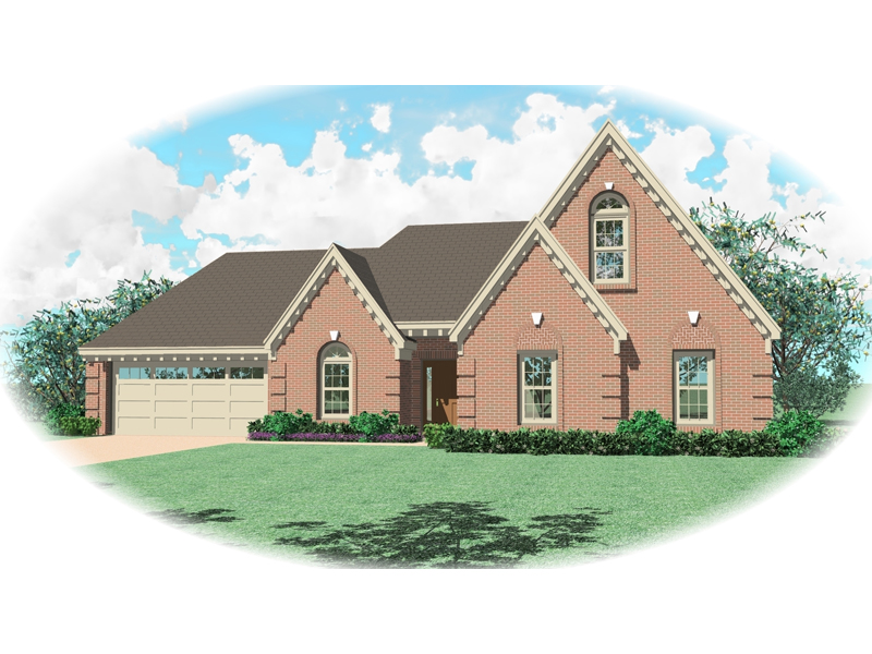 European House Plan Front of Home - 087D-0418 | House Plans and More