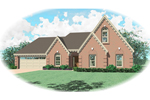 Traditional House Plan Front of Home - 087D-0418 | House Plans and More