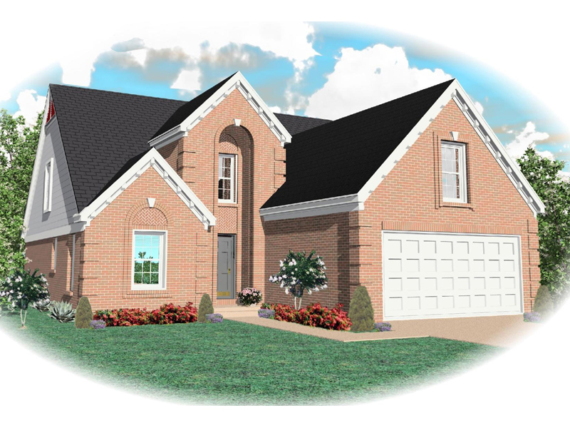 European House Plan Front of Home - 087D-0423 | House Plans and More