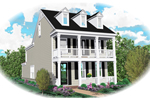 Vacation Home Plan Front of Home - 087D-0425 | House Plans and More