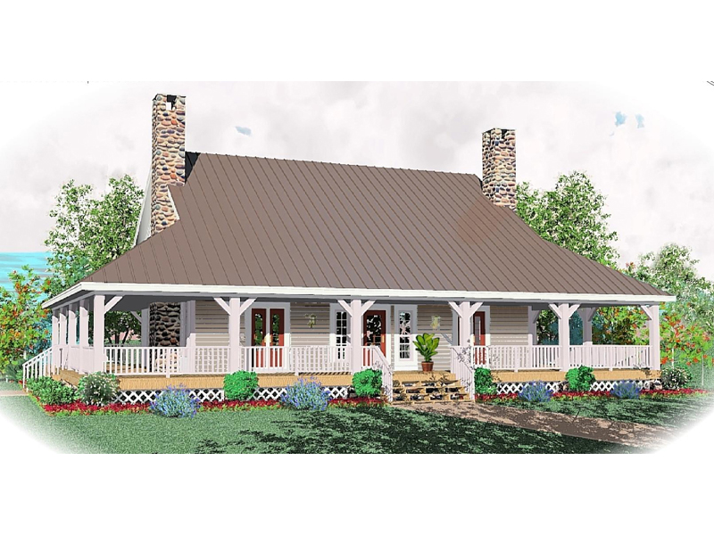 Farmhouse Plan Front of Home - 087D-0429 | House Plans and More