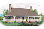 Colonial Floor Plan Front of Home - 087D-0429 | House Plans and More