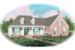 Colonial Floor Plan Front of Home - 087D-0433 | House Plans and More