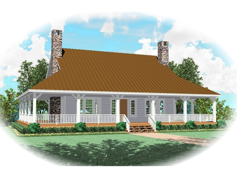 Farmhouse Plan Front of Home - 087D-0435 | House Plans and More