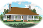 Colonial Floor Plan Front of Home - 087D-0435 | House Plans and More