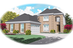 European House Plan Front of Home - 087D-0436 | House Plans and More