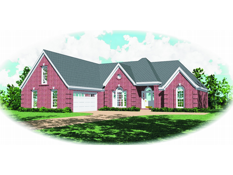Ranch House Plan Front of Home - 087D-0441 | House Plans and More