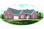 Traditional House Plan Front of Home - 087D-0441 | House Plans and More