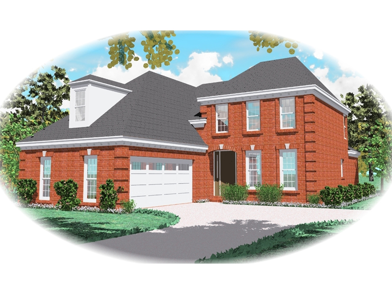 Colonial House Plan Front of Home - 087D-0444 | House Plans and More