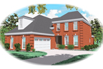Colonial Floor Plan Front of Home - 087D-0444 | House Plans and More