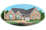 Ranch House Plan Front of Home - 087D-0446 | House Plans and More