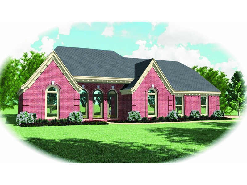 Ranch House Plan Front of Home - 087D-0457 | House Plans and More