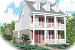 Southern Plantation Plan Front of Home - 087D-0471 | House Plans and More