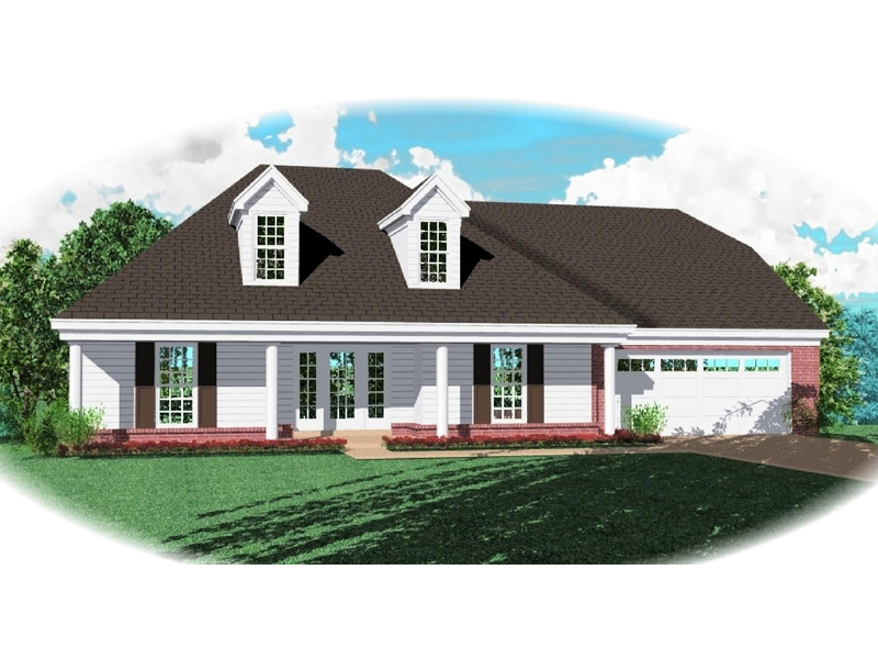 Southern Plantation House Plan Front of Home - 087D-0472 | House Plans and More