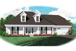 Ranch House Plan Front of Home - 087D-0472 | House Plans and More
