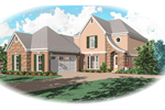 Country French Home Plan Front of Home - 087D-0474 | House Plans and More