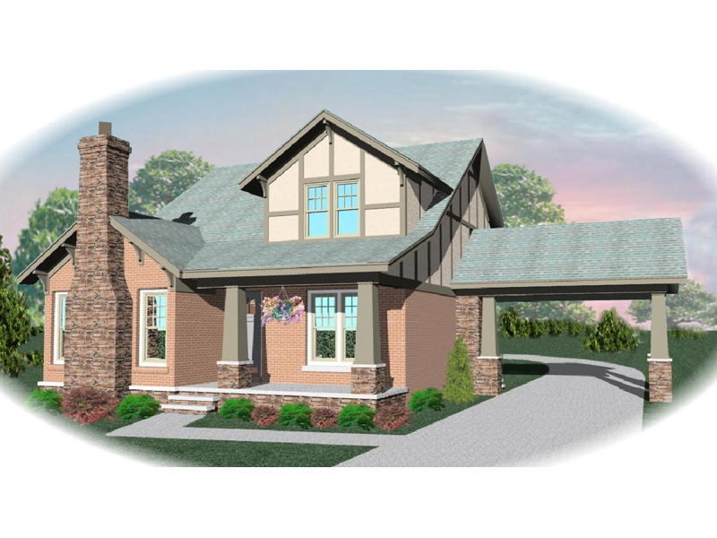 Tudor House Plan Front of Home - 087D-0475 | House Plans and More