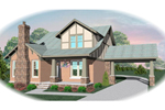 English Tudor House Plan Front of Home - 087D-0475 | House Plans and More